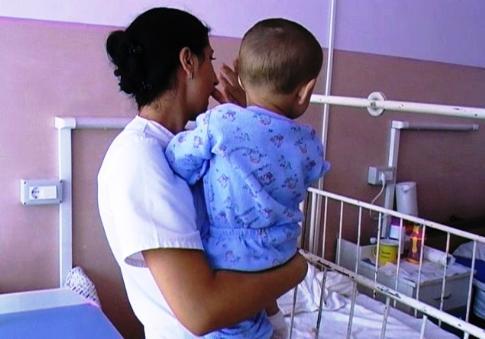 Copilul a fost luat chiar din spital FOTO JA
