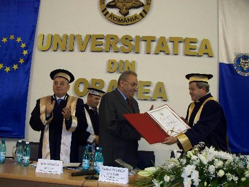 Andrei Marga, Doctor Honoris Causa al Universităţii din Oradea