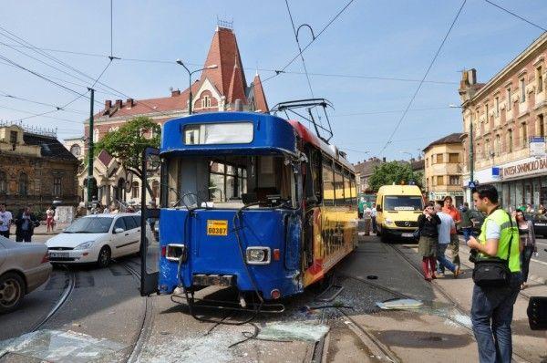 Tramvai implicat in accident