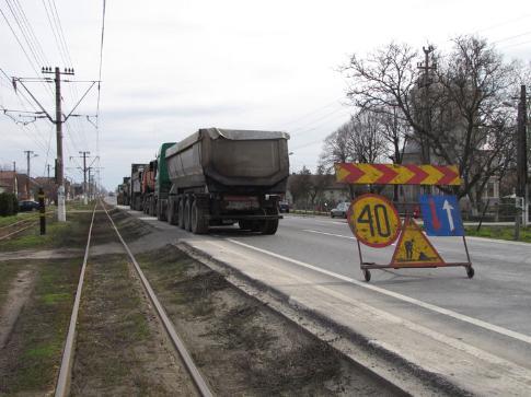 Se fac pregătiri pentru executarea de lucrări pe linia de tramvai Arad-Ghioroc