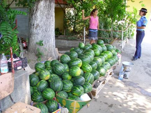 Pepenii pot fi comercializaţi doar în locurile stabilite de către Primărie, şi cu plata taxei de salubritate