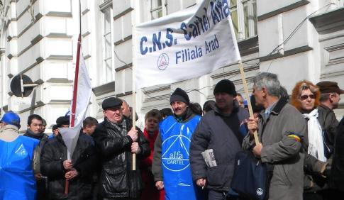 Sindicaliştii de la Cartel Alfa nu au mai putut protesta, aşa cum o făceau în alte dăţi