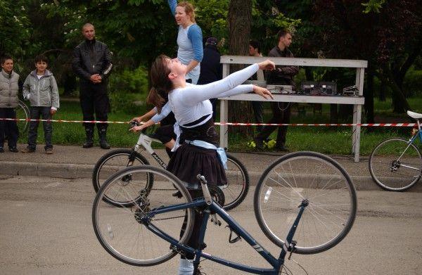 Balet pe biciclete la Timisoara