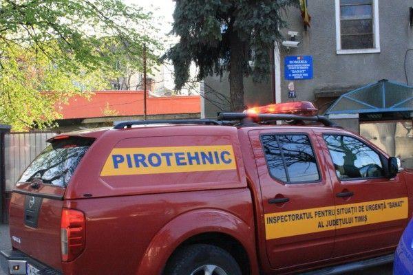 Inspectoratul pentru Situatii de Urgenta Timis a ridicat grenada