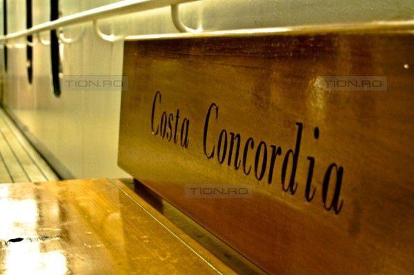Fotografie facuta la bordul navei Costa Concordia