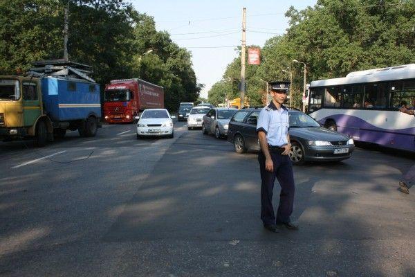 Circulatie ingreunata la iesirea din Timisoara din cauza neatentiei unui sofer