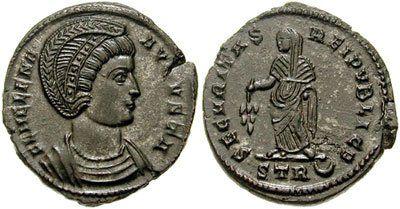 Chipul Elenei, pe o monedă din anul 325