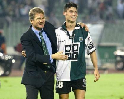 Ladislau Boloni și Cristiano Ronaldo