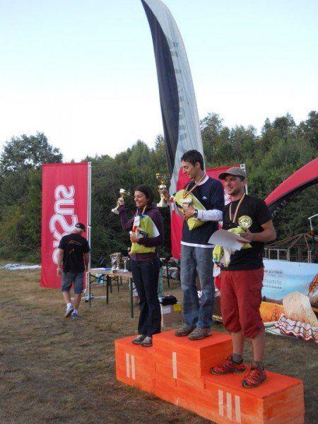 Foto Facebook - Alex Ciuhandu (locul 1) și Monica Ciurea (locul 2) la Transilvania XC
