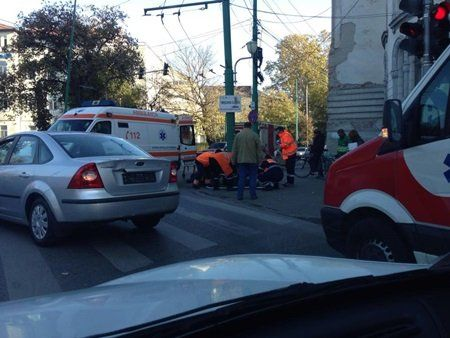 Accident moped bulevardul Republici II (1)