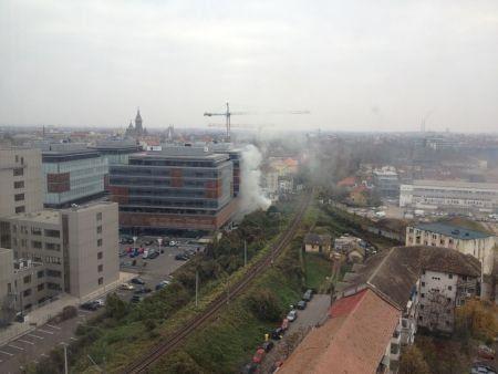 Incendiu in Piata 700, pe santierul celei de-a cincea cladiri City Business Centre (8)