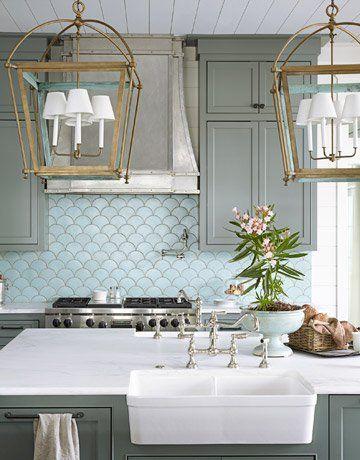 Bucătărie cu design oceanic
