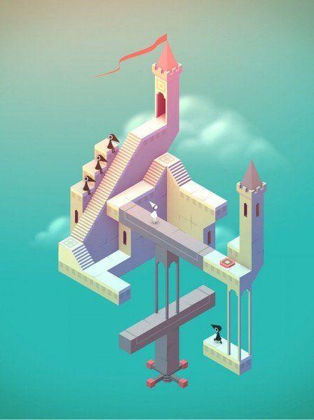 Monument Valley - puzzle-uri multi-dimensionale. Poate fi jucat pe iOS și Android pentru 3,99 dolari.
