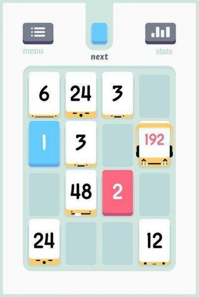 Threes - Disponibil pe iOS și Android pentru 2,99 dolari.