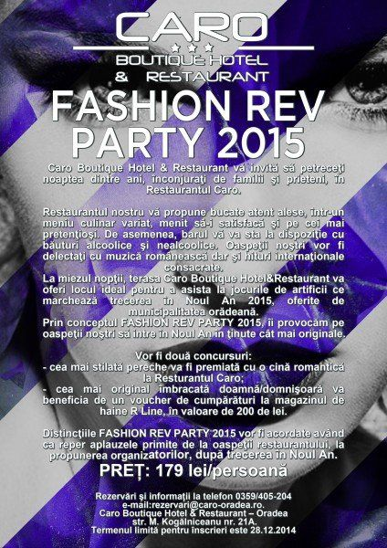 Fashion Rev Party 2015 - Caro Boutique Hotel&Restaurant