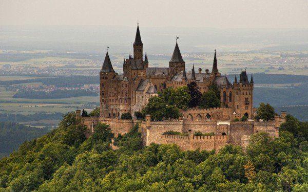 Hohenzollern Castle, Germany Wide Desktop Background
