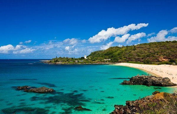 Beautiful Waimea Bay on Oahu's North Shore