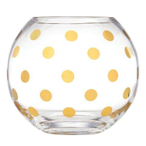 Vază transparentă cu buline.