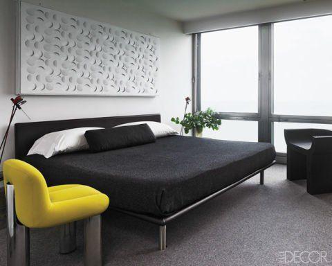 Dormitor minimalist.
