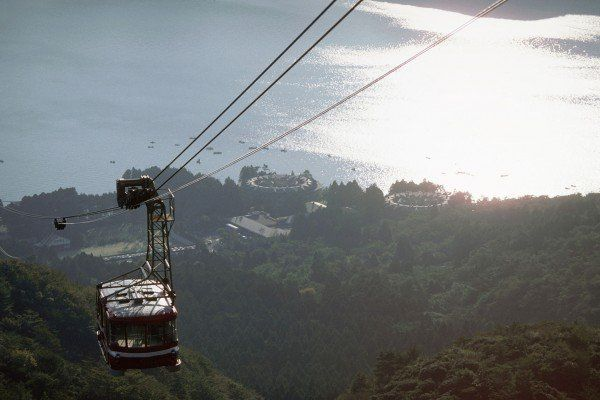 Aerial Tramway Over Hakone and Lake Ashino